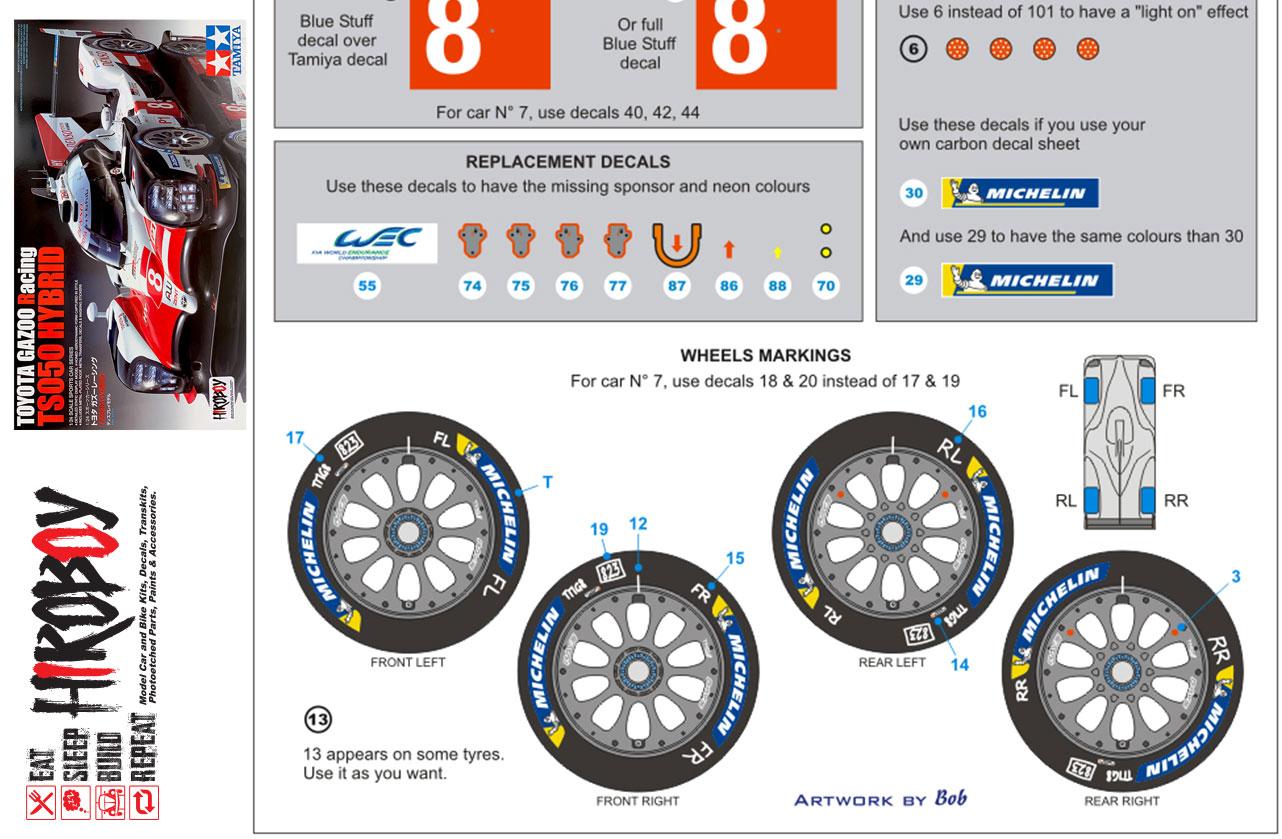 Detail Up 1//18 Sports Racing Car Wheel Hub Logos Markings Model Kit Water Decal