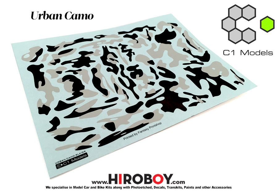 1 24 Urban Camo Camouflage Decals C1 Dec002 C1 Models