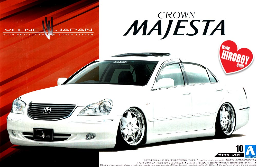 1:24 Vlene Toyota Crown Majesta Model Kit (VIP Car) | AOS-052365 | Aoshima