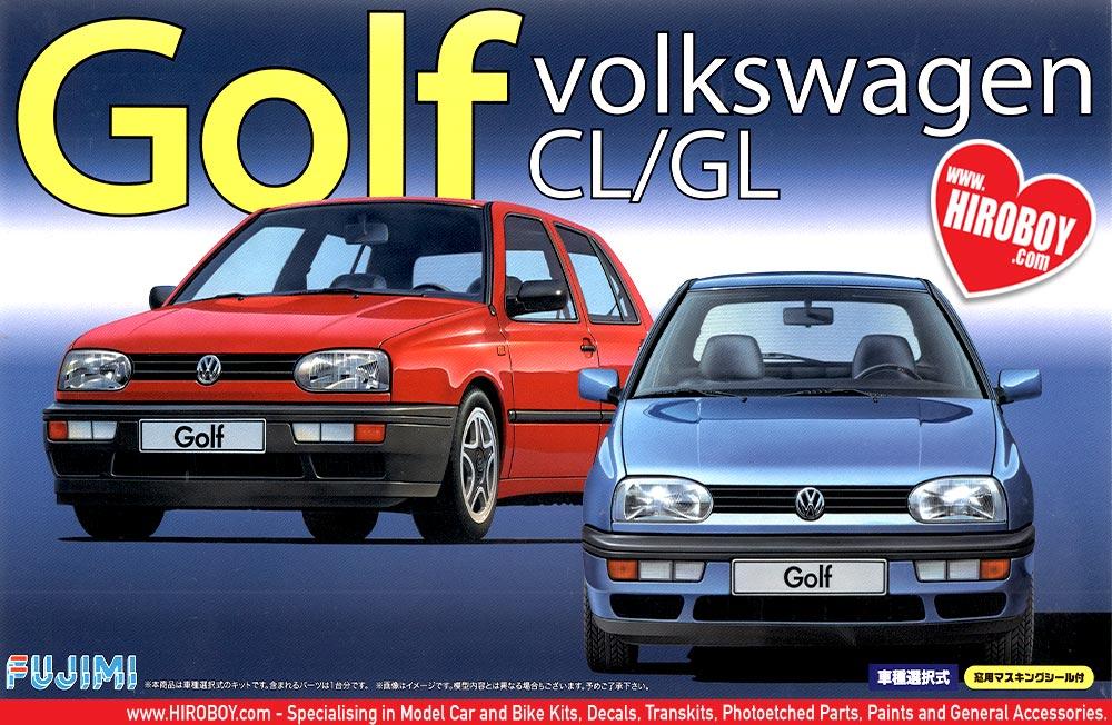 1 24 volkswagen golf mk 3 cl gl model kit fuj 126395 fujimi. Black Bedroom Furniture Sets. Home Design Ideas