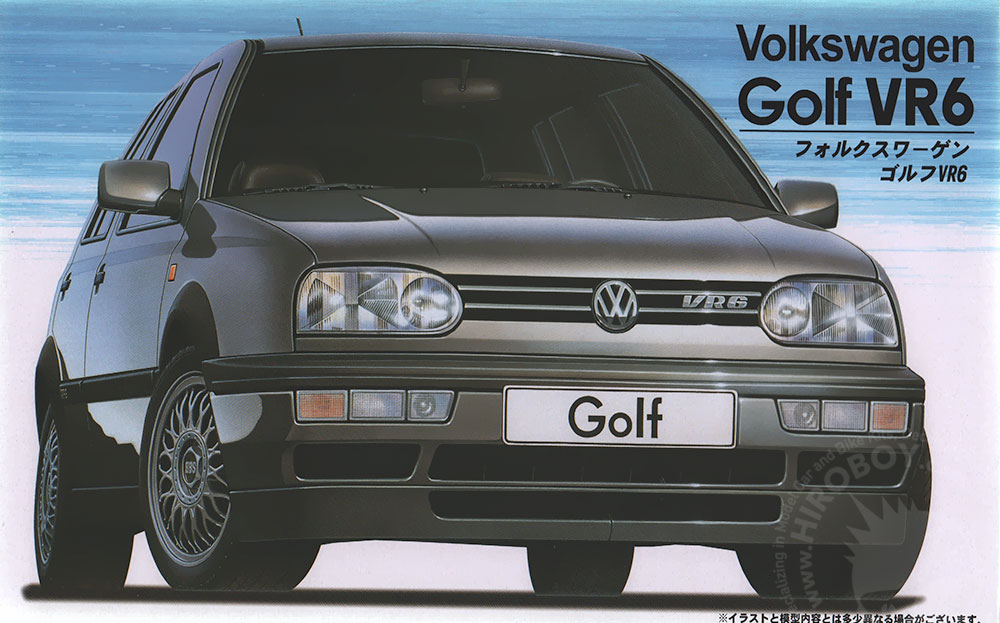 1 24 volkswagen golf mk3 vr6 fuj 12093 fujimi. Black Bedroom Furniture Sets. Home Design Ideas