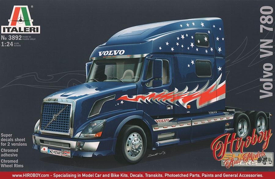 1:24 Volvo VN 780 Show Truck - Italeri 3821 Model Kit | IT ...