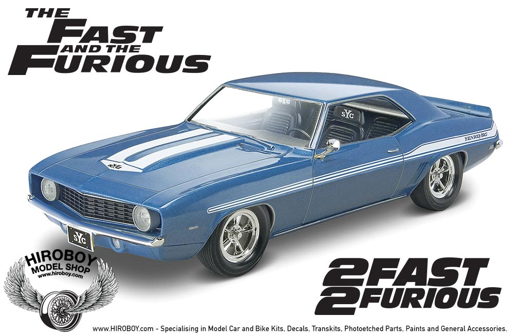 1:24 Fast and Furious '69 Chevy Camaro Yenko Model Kit ...