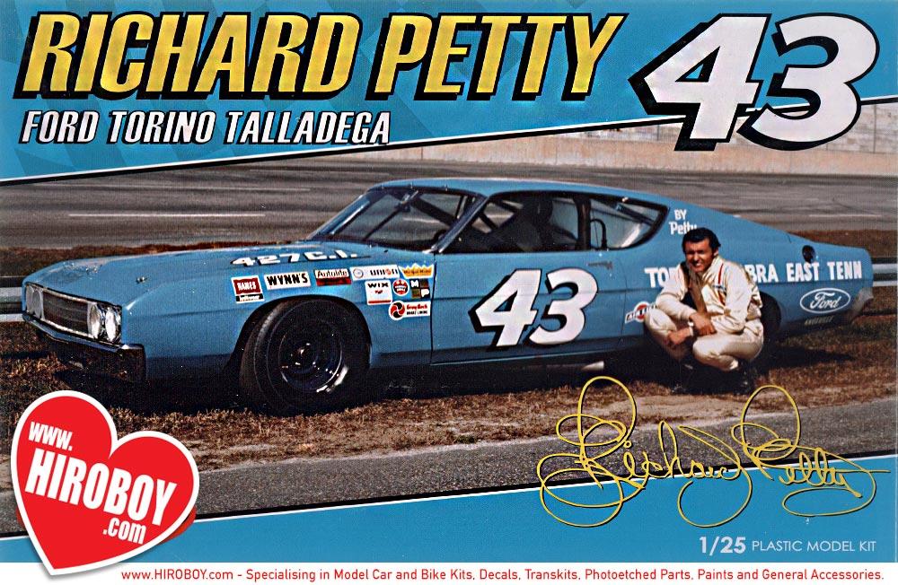 New Ford Torino >> 1:25 Richard Petty Ford Torino Talladega Model Kit ...