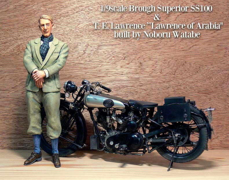 "Bmw Motorcycle Parts >> 1:9 Resin Figure ""Lawrence of Arabia"" 