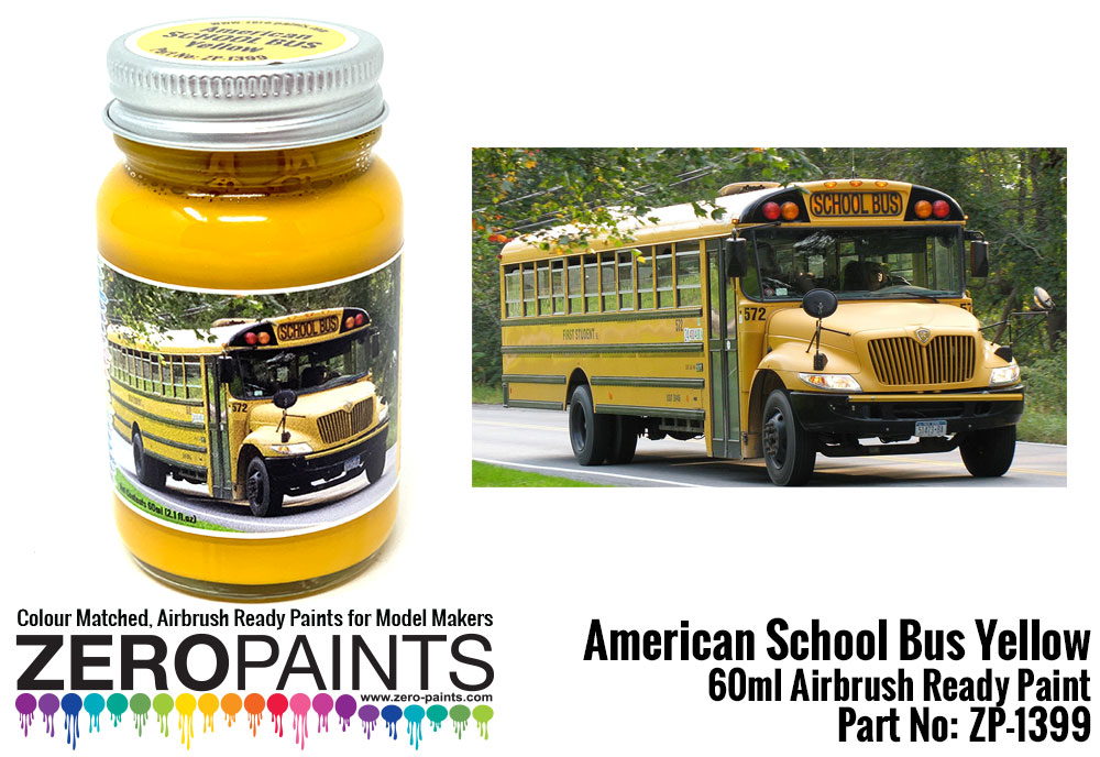 American School Bus Yellow Paint 60ml Zp 1399 Zero Paints