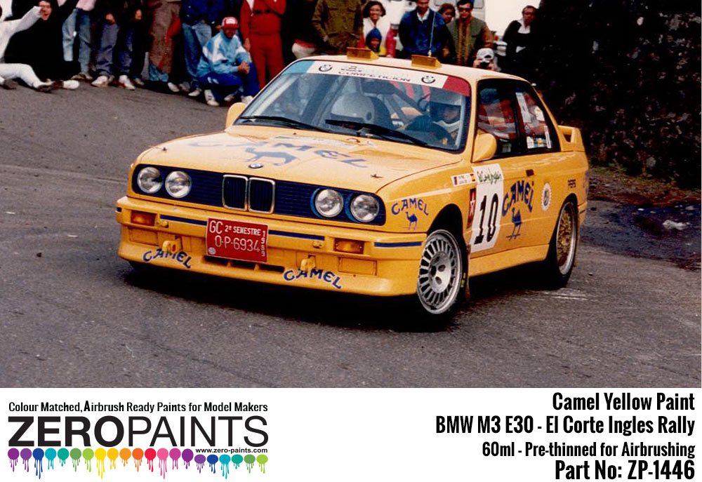Camel Yellow For Bmw M3 E30 El Corte Ingles Rally Principe De Asturias Rally Valeo Rally