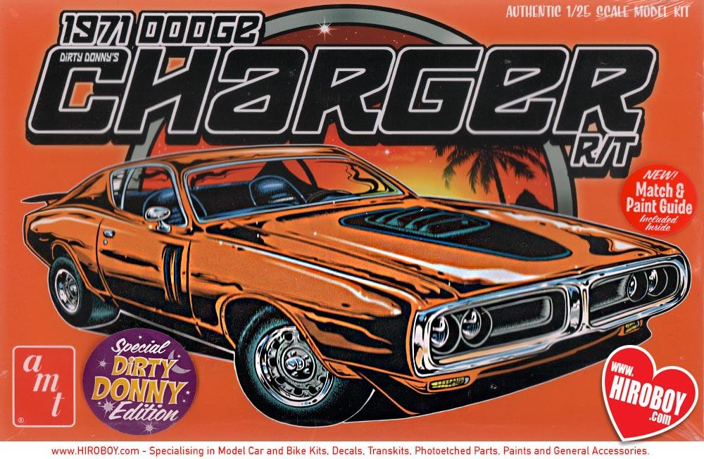 1 25 Dirty Donny 1971 Dodge Charger R T Model Kit Amt945