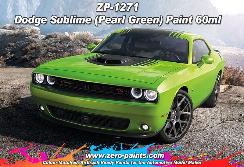 Dodge Sublime Pearl Green Paint 60ml Zp 1271 Zero Paints