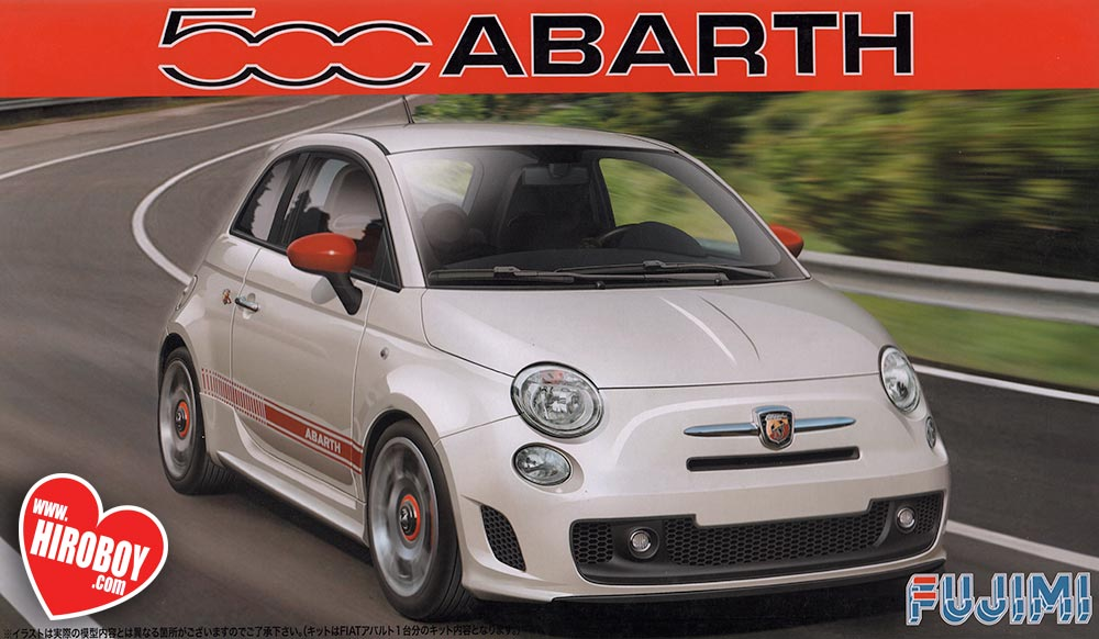 1 24 fiat 500 abarth model kit fuj 123721 fujimi. Black Bedroom Furniture Sets. Home Design Ideas