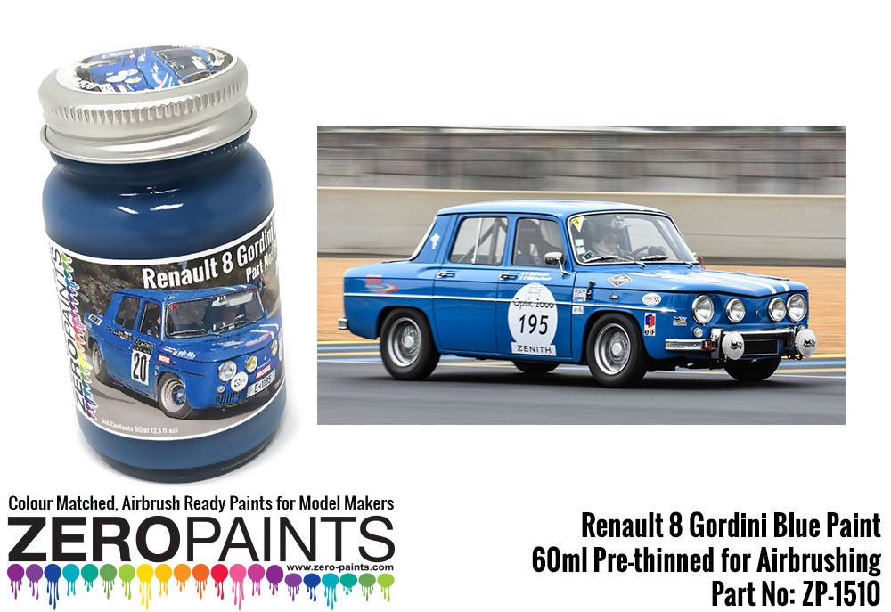 renault 8 gordini blue paint 60ml zp 1510 zero paints