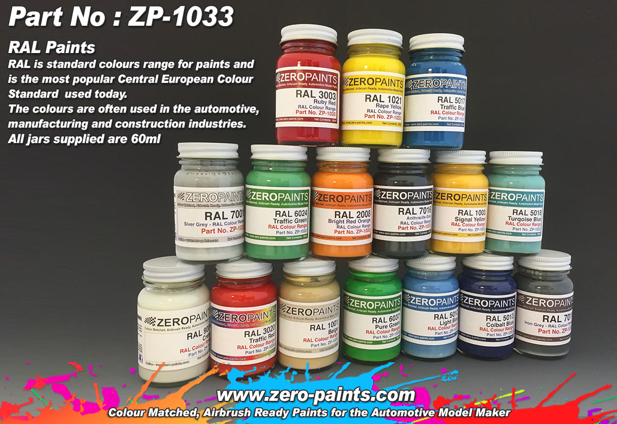 Ral Paints European Standard Colour Range 60ml Zp 1033