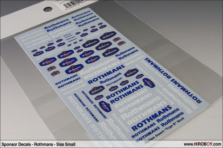 Sponsor Decals Assorted Rothmans Size Small Tabu