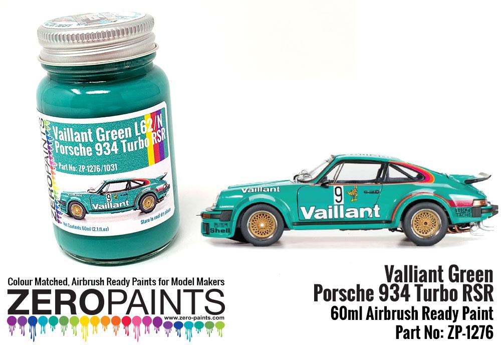 Valliant Green Paint Porsche 934 Turbo RSR 60ml ZP 1276 Zero Paints