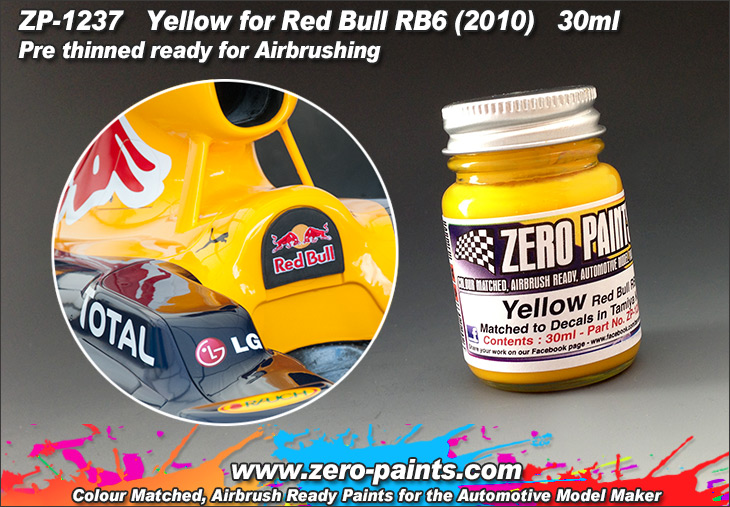 yellow decal matched red bull paint 30ml zp 1237. Black Bedroom Furniture Sets. Home Design Ideas