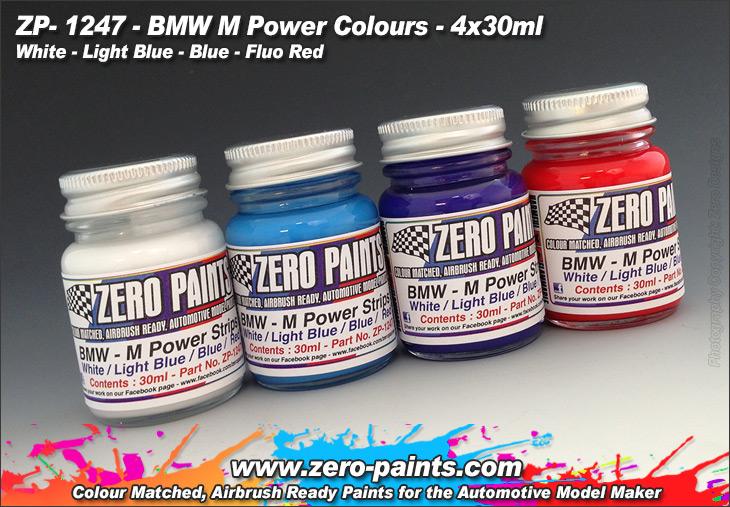 Bmw M Power Colours Paint Set 4x30ml Zp 1247 Zero Paints